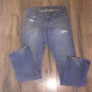 Distressed bootcut  JCrew jeans
